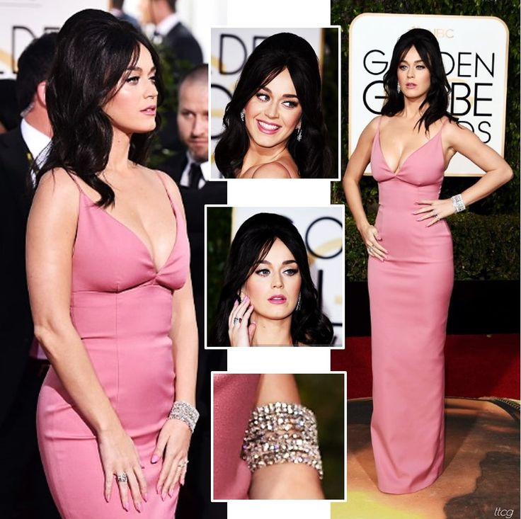 Katy Perry at the 2016 Golden Globes in Prada