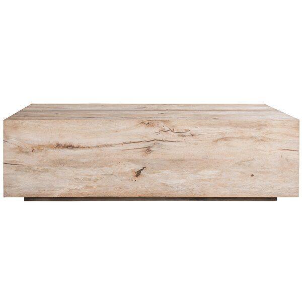 Tacto Solid Wood Block Coffee Table In 2020 Wood Stone Coffee Table Wood Blocks