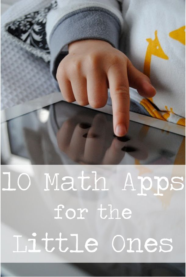 Playful Learning: 10 Math Apps for the Little Ones #homeschool #ipad