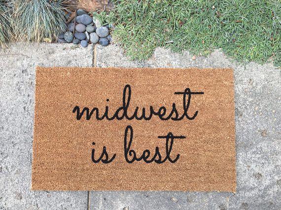 Midwest is Best doormat / Funny Doormat / Chicago Decor / Outdoor Welcome Mat / Housewarming Gift / Wedding Gift / Cute Doormat