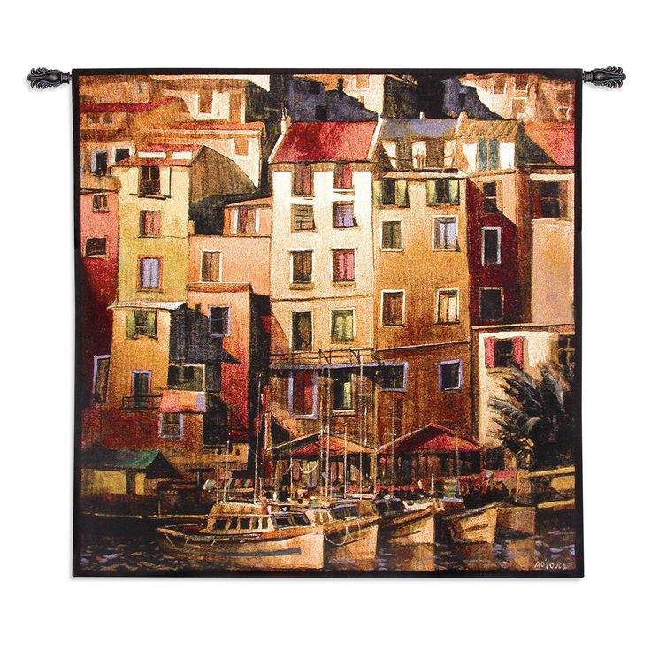 Fine Art Tapestries Mediterranean Gold Wall Tapestry - 1567-WH