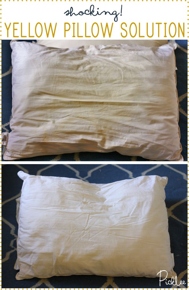 How to Clean & Whiten Yellow Pillows, a shocking solution, DO NOT USE BLEACH!