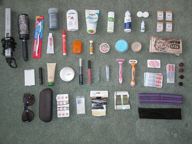 What another gal packed to travel: Backpacking Toiletries and Accessories by veganbackpacker, via Flickr