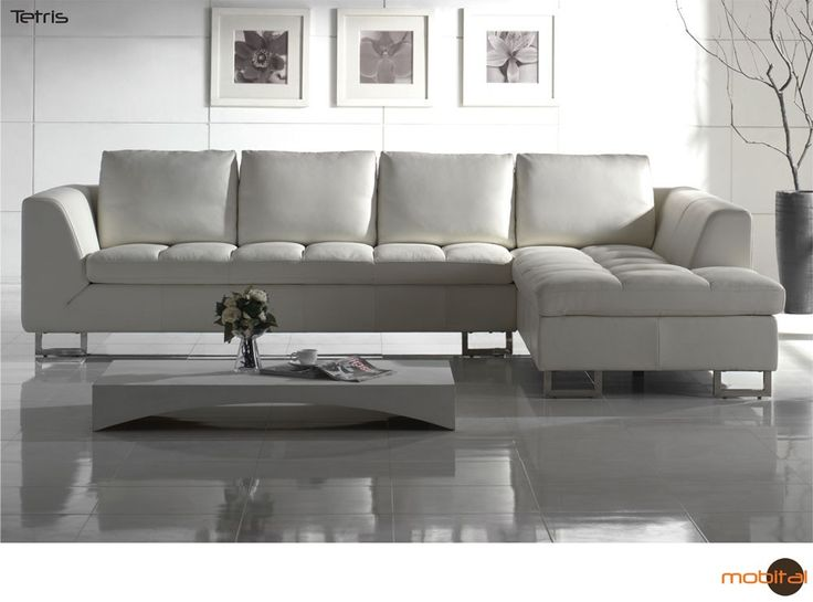 White leather Sectional Sofa - Love it! But different color.
