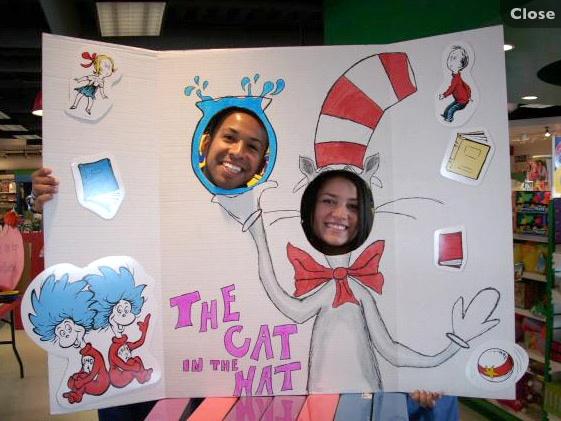 Fun idea, Dr. Seuss Photo op