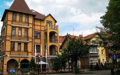壁紙をダウンロードする ロシア, リゾート, 都市, 建築, ハウス, zelenogradsk, カリーニングラード州