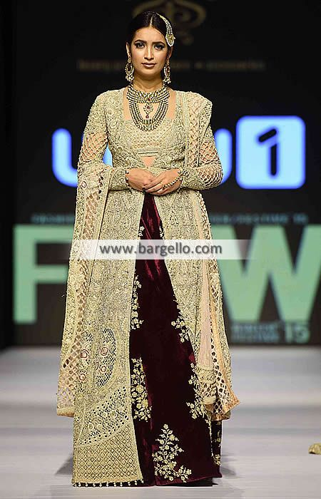Pakistani Wedding Lehenga Dresses 2015 Shehla Chatoor Bridal Dresses D5605 Bridal Wear