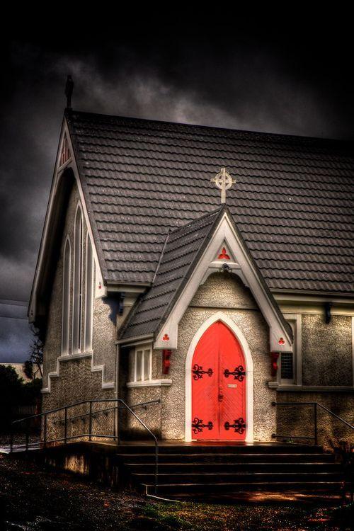 Kaikoura Anglican Church, New Zealand ~ photo by Vanessa