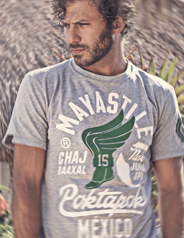 Mayastile® Poktapok Graphic T-shirt #men's #photographer #model #playadelcarmen #man #bear #sofienmez #mayastile #photo #echoenmexico
