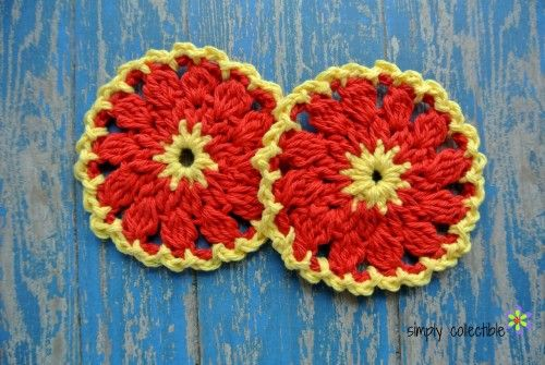 Firewheel Scrubbie free crochet pattern by Simply Collectible