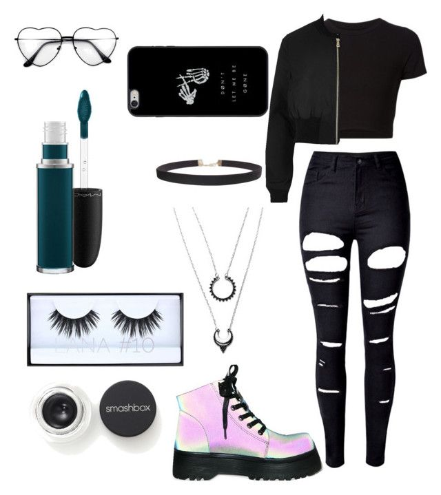 """""""Young attitude"""" by danielle-bell-i on Polyvore featuring WithChic, Getting Back To Square One, River Island, Y.R.U., Humble Chic, Smashbox, Huda Beauty and MAC Cosmetics"""