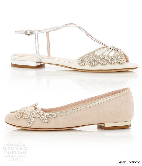 Best 25 flat wedding sandals ideas on pinterest wedding sandals emmy london wedding shoes cancello bridal collection junglespirit Image collections