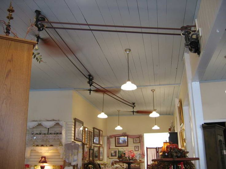 Belt Driven Ceiling Fans With Wooden Roofs White Color