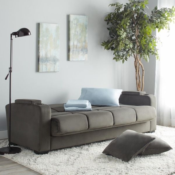 Multi Purpose Sleeper Sofa Home Living Room Indoor Furniture Convertible Grey #Portfolio #Modern