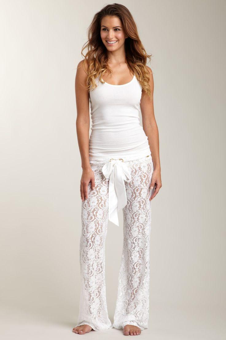 Lace pajama pants. Beautiful comfort :)