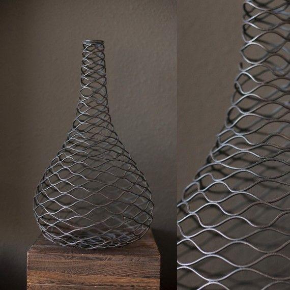 """Vintage Industrial Vase. Original pinner said, """"Beyond Cool"""", I have to agree!"""