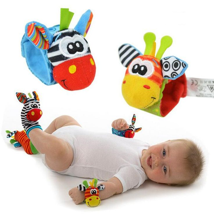 Animal Design Baby Wrist and Socks Rattle Toys
