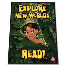 Explore New Worlds Library Floor Mat