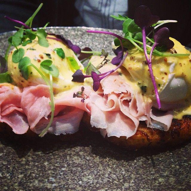house benedict: potato rosti, grandmother ham, poached eggs, mustard + tarragon hollandaise @operator25cafe #operator25 #operator25cafe #melbourne #cafe #breakfast #brunch #breakfastinmelbourne...