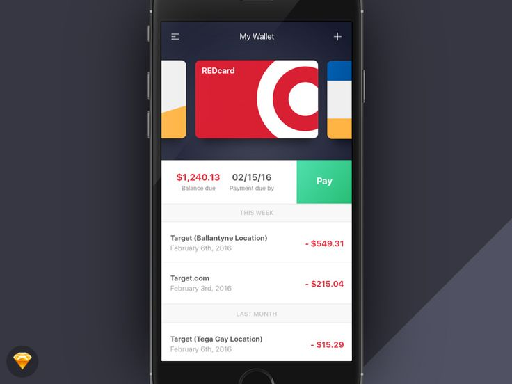 Wallet App – My Expenses Screen