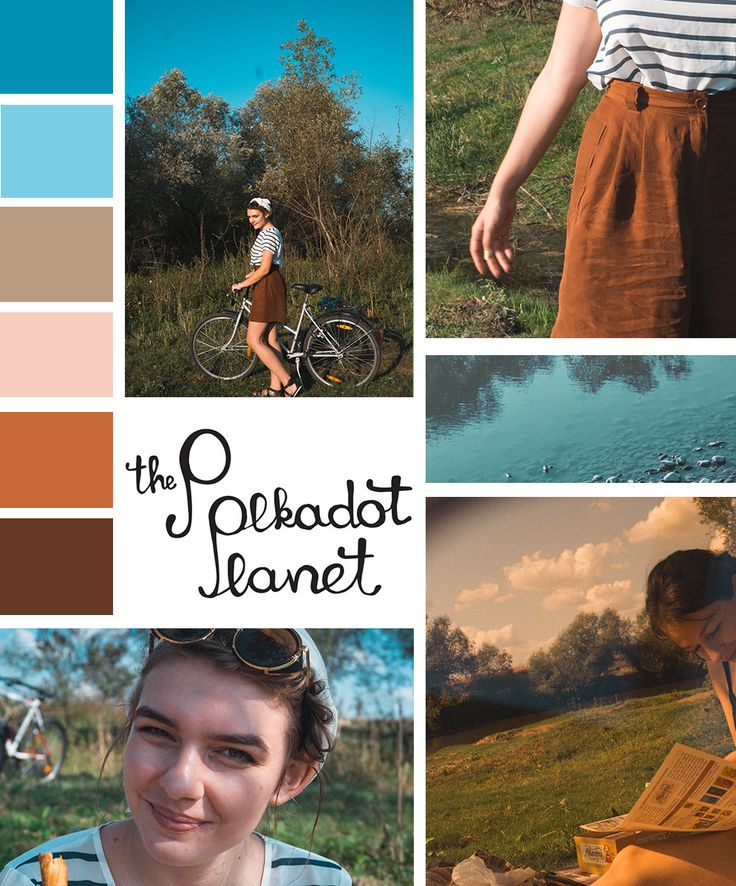 Brown and blue, orange and teal