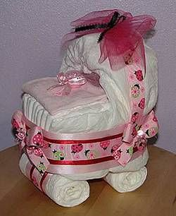 baby carriage diaper cake instructions with pictures