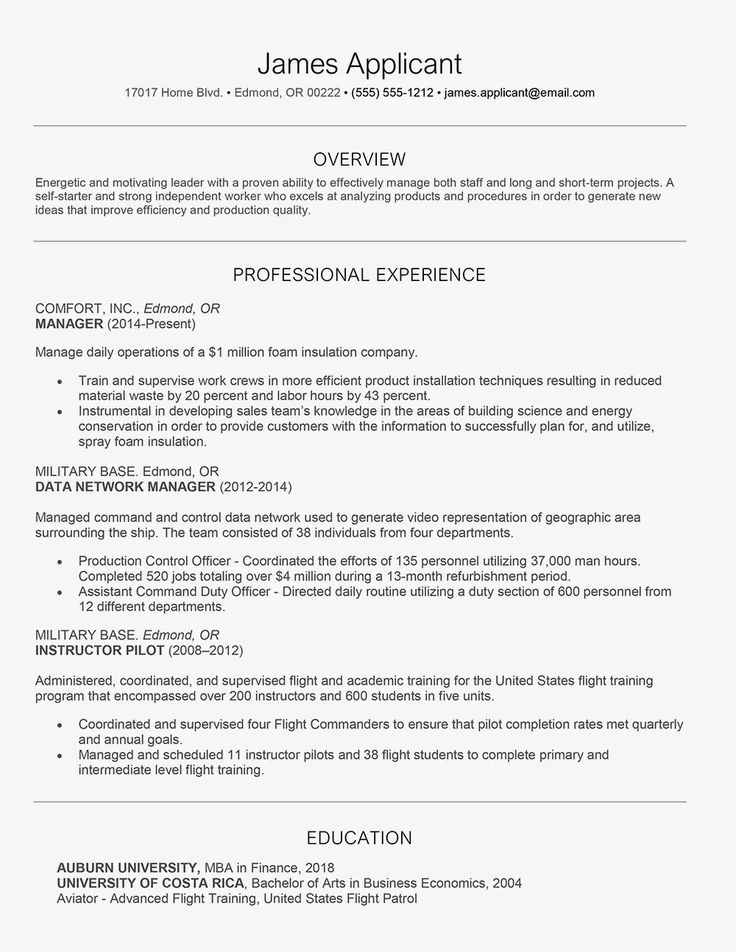 Example of a Chronological Resume as Well as Tips and