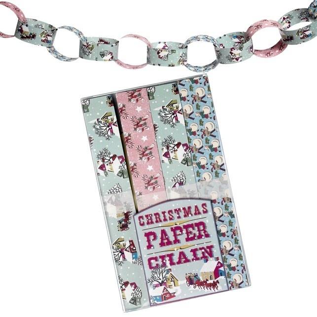 Vintage Christmas Paper Chain Kit