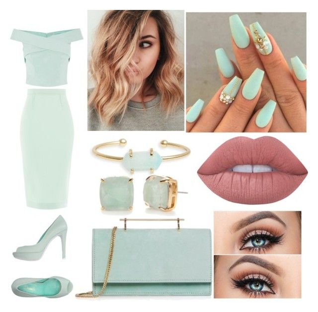 """Serene at Sea #4"" by raineingboties on Polyvore featuring Deimille, Coast, Roland Mouret, Treasure & Bond, Kate Spade, M2Malletier and Lime Crime"
