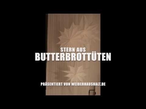 Stern aus Butterbrottüten - Weiberhaushalt