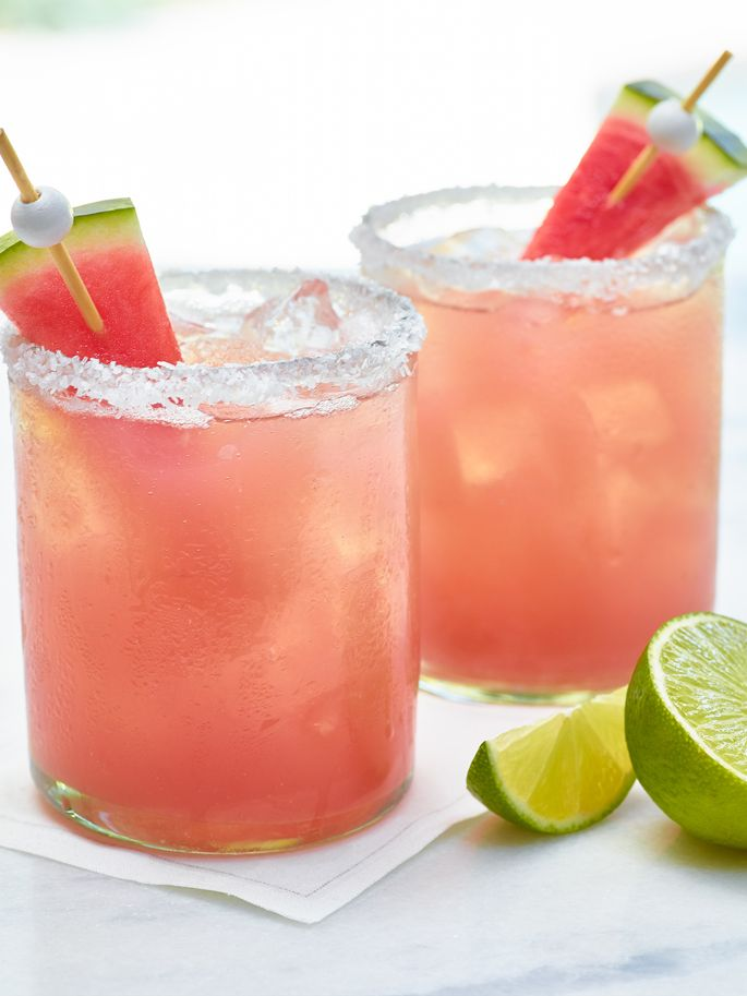 Watermelon Margarita on the Rocks