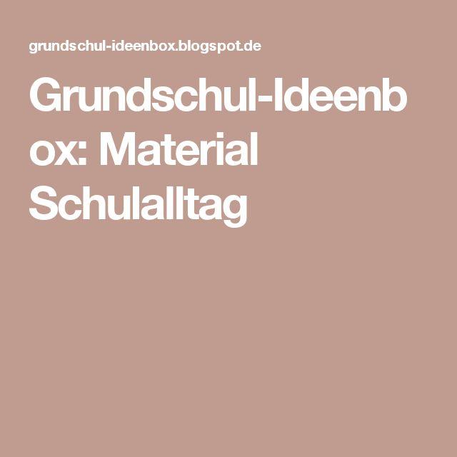 Grundschul-Ideenbox: Material Schulalltag