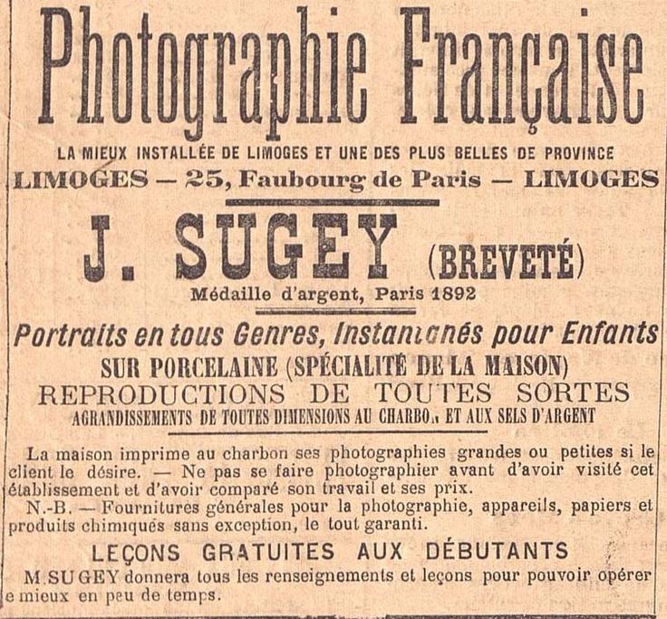 """""""Portraits en tous Genres...""""extrait de la Gazette du Centre, 1893"""