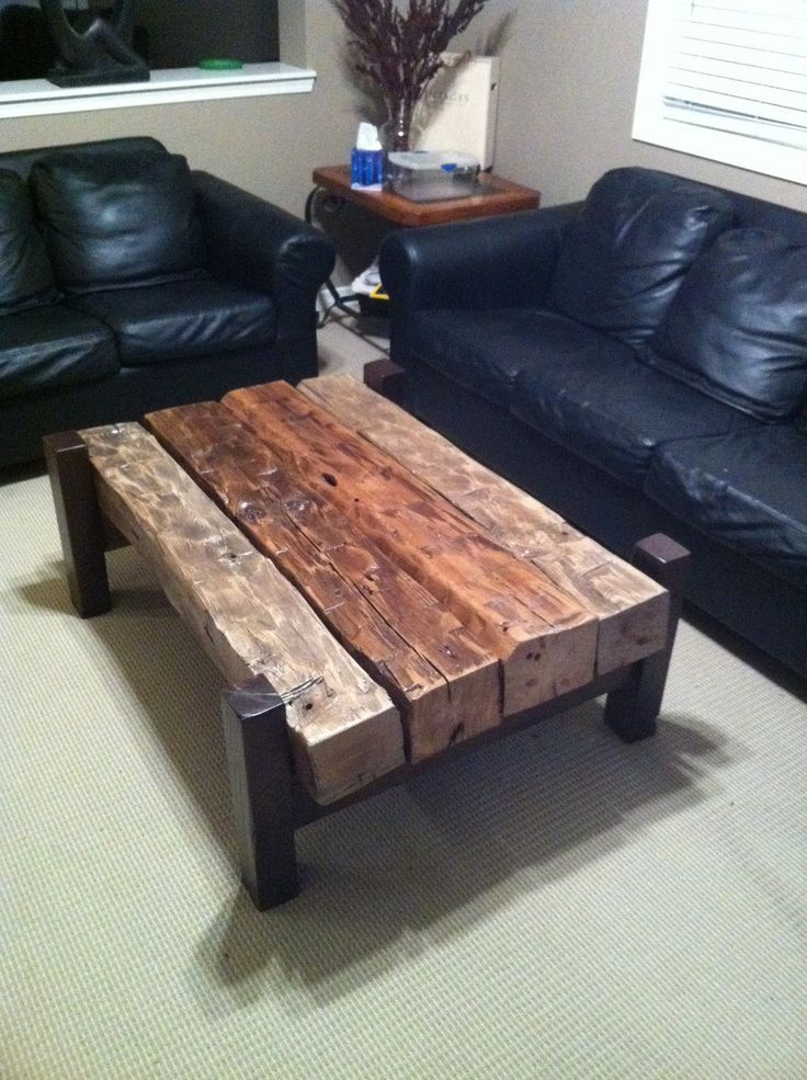 table with old beams Farmhouse Style Project Idea Project