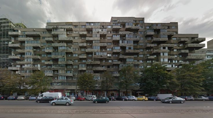 Pantelimon housing block - #architecture #googlestreetview #googlemaps #googlestreet #romania #bucharest #brutalism #modernism