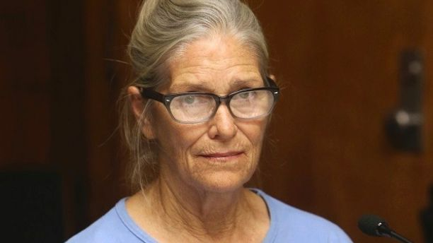 FILE - In this Sept. 6, 2017, file photo, Leslie Van Houten attends her parole hearing at the California Institution for Women in Corona, Calif. California Gov. Jerry Brown has again denied parole for Van Houten, the youngest follower of murderous cult leader Charles Manson. Brown said in his decision announced Friday, Jan. 19, 2018, that despite Van Houten saying at her parole hearing that she accepts full responsibility for her crimes, she still lays too much of the blame on Manson, who…