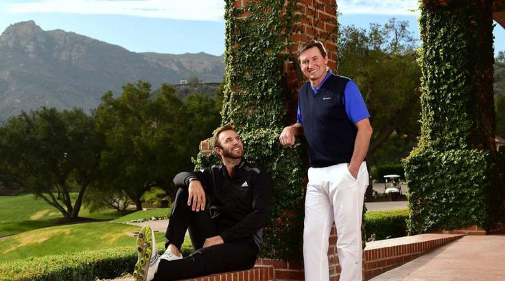 An intimate look at Gretzky's life off the ice throughout his career  -  March 25, 2017:    Pro golfer Dustin Johnson looks up to his future father-in-law, Wayne Gretzky, during a photo shoot in Los Angeles on Jan. 9, 2015. In The Great One, Johnson has a father figure who can teach him a thing or two about handling fame.