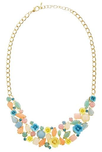 Louche Pastel Flower necklace, £18.