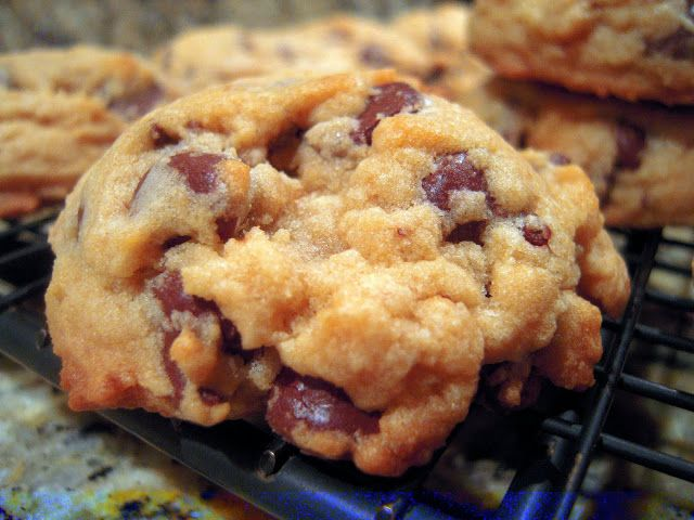 Bisquick Chocolate Chip Cookies | Plain Chicken. Ingredients: butter, brown sugar, vanilla, egg, Bisquick, chocolate chips, nuts (optional)