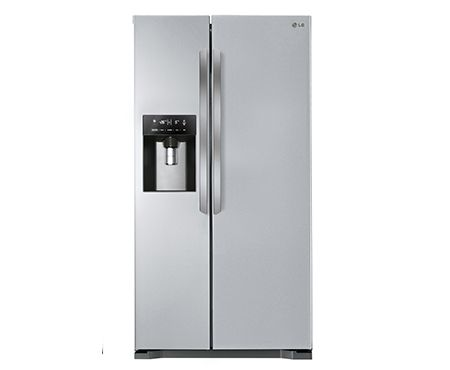 A+ ENERGY RATED AMERICAN STYLE SILVER FRIDGE FREEZER WITH NON-PLUMBED WATER AND ICE DISPENSER