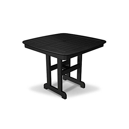 Relaxing And Versatile Yacht Club Patio Dining Table UV Protectant With  Umbrella Hole (Charcoal Black