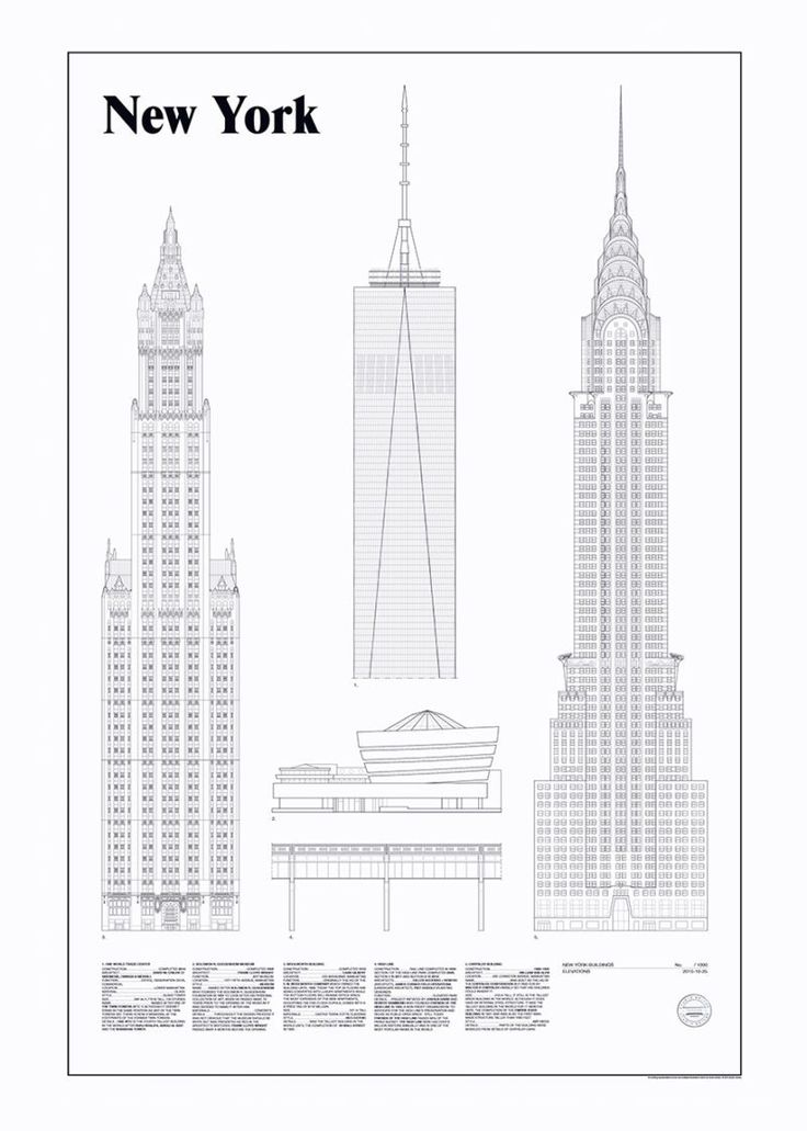 New York Elevations by Studio Esinam | Poster from theposterclub.com