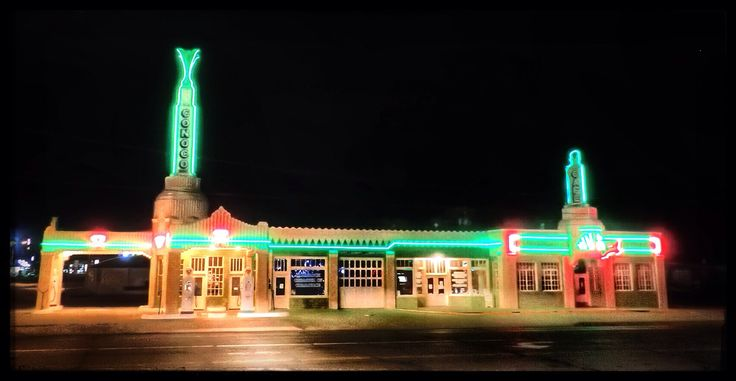 Image result for route 66 Conoco shamrock tx