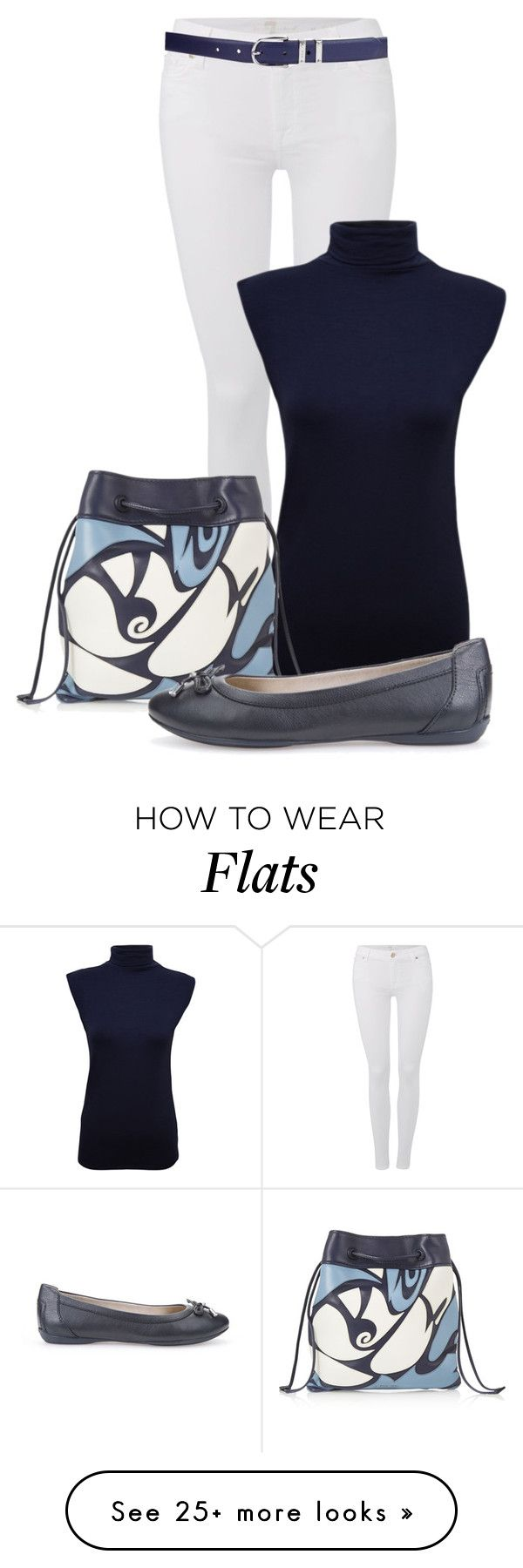 """""""Jeans and Flats ~6"""" by billi29 on Polyvore featuring 7 For All Mankind, WearAll, Miu Miu, Geox, Lauren Ralph Lauren, women's clothing, women's fashion, women, female and woman"""