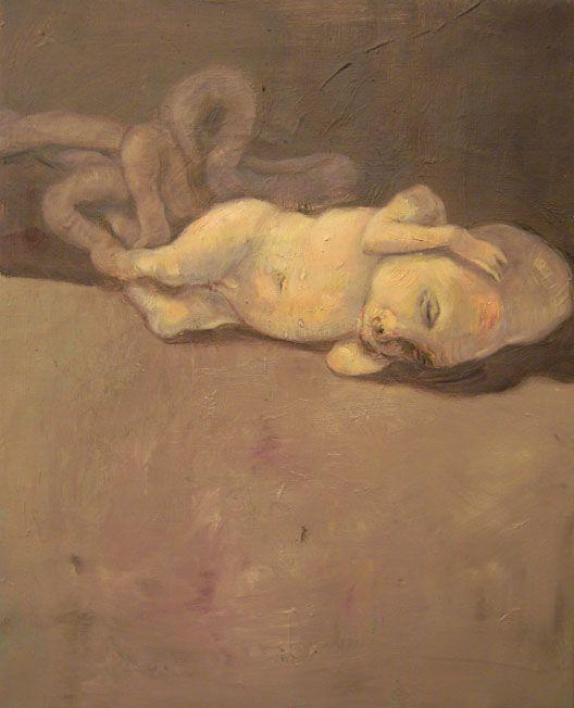 Michael Kvium - contemporary Danish painter who explores dark subject matter.