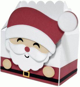 Silhouette Design Store: cute santa claus box by Nilmara Quintela (Christmas gift box idea)