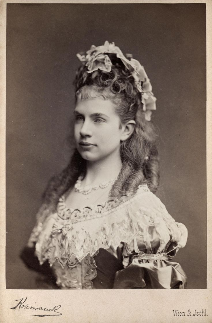 Archduchess Gisela of Austria, Princess of Bavaria, in costume.