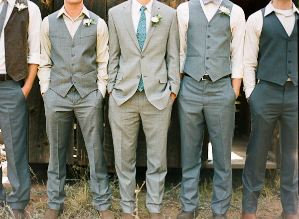 mix and match gray suits | Cassidy Brooke #wedding