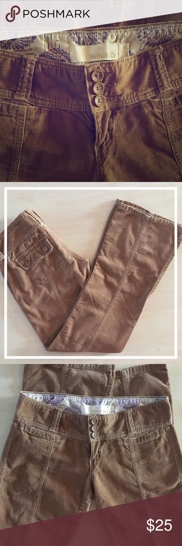 "Hollister Corduroy Flared Low Rise Size 5 #270 Hollister Corduroy Pants Low Rise and Flared. Size 5. Waist 31"" Rise 8"" Inseam 32"" Flare 9.5"". All orders are shipped same or next business day. Bundle to save even more money! Hollister Pants Trousers"