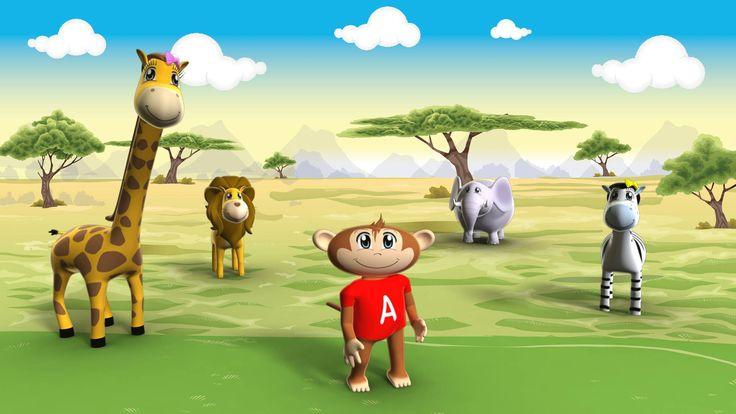 Arturo and his friends in the savanna. #learnsafari #learnspanish